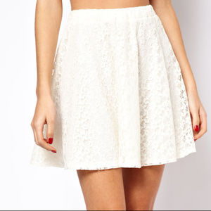 ASOS Skater Skirt in Floral Cream Lace